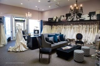 Gabrielle's Bridal Atelier showroom and waiting area. 408.370.4999 www.gabriellesbridal.com
