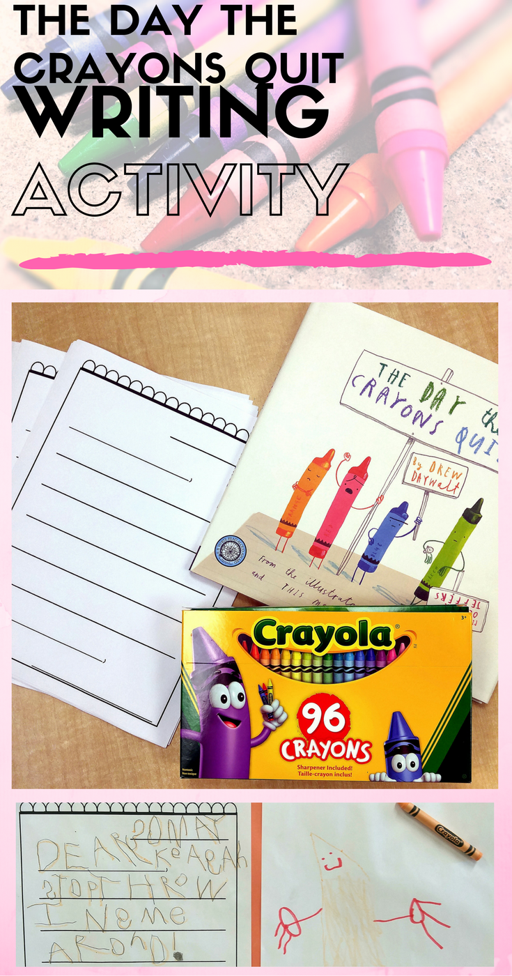 Fun Writing Activity for The Day The Crayons Quit