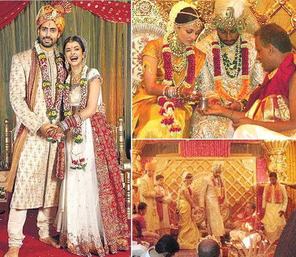 Abhishek Bachchan Aishwarya Rai Wedding Bollywood Wedding Bollywood Wedding Dress Wedding Dresses For Girls