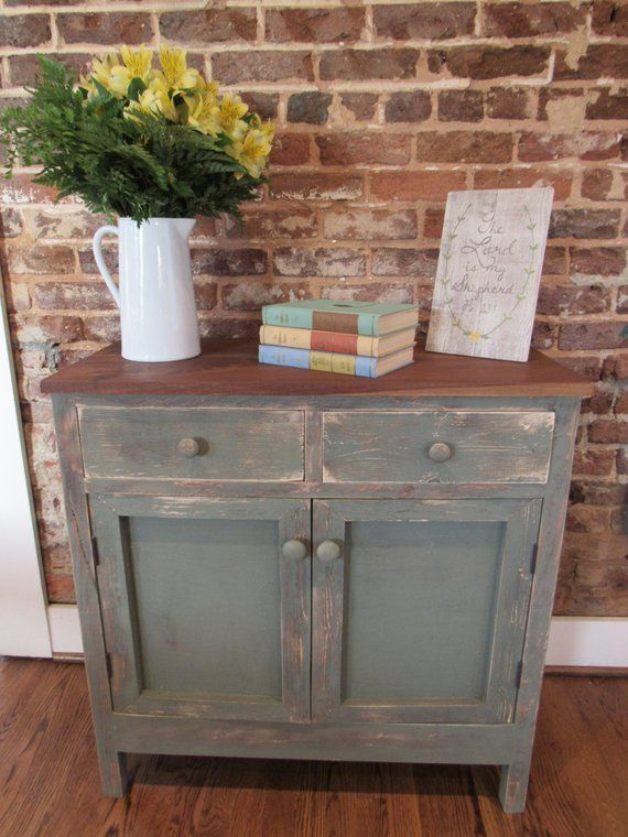 Tv Hall Cabinet Living Room Furniture Designs Wooden Tv: Farmhouse Console Cabinet // Reclaimed Wood // Distressed