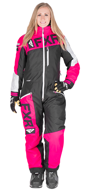 Womens Snowmobile Suits >> Fxr Women S Squadron Monosuit At Up North Sports Pink