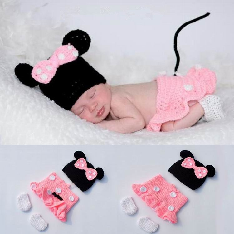 Handmade Knit Crochet Baby Photo Props Outfit Costume | Bebe