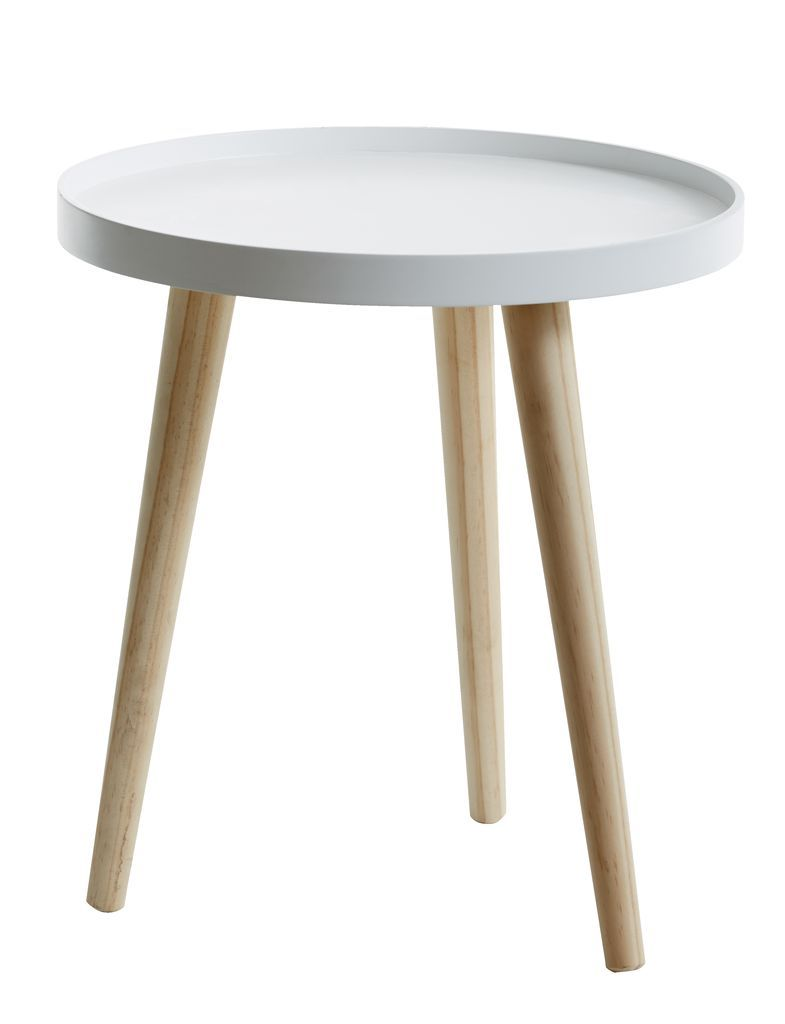 Side Table Bijzettafel.Tafel M Dienblad Bakkebjerg O40 Wit Nat Jysk 2017