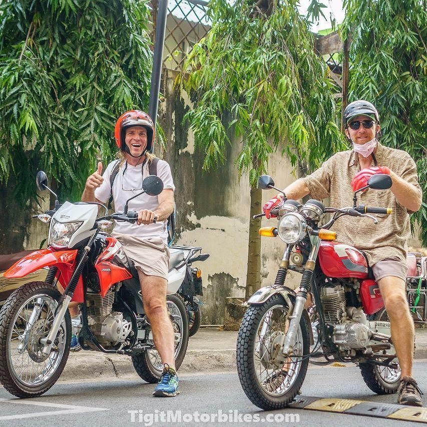 John stockton and his buddy off to hanoi on tigit honda