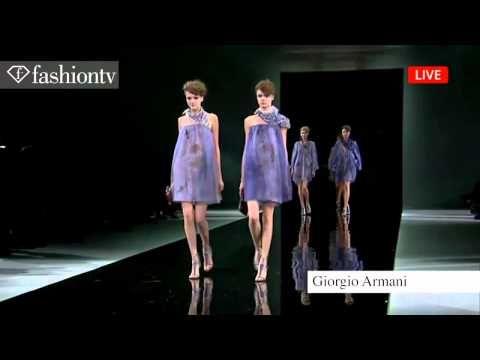 ▶ Giorgio Armani Spring/Summer 2014   Milan Fashion Week MFW   FashionTV - YouTube