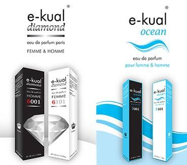 e-kual são perfumes genéricos, equivalências de perfumes