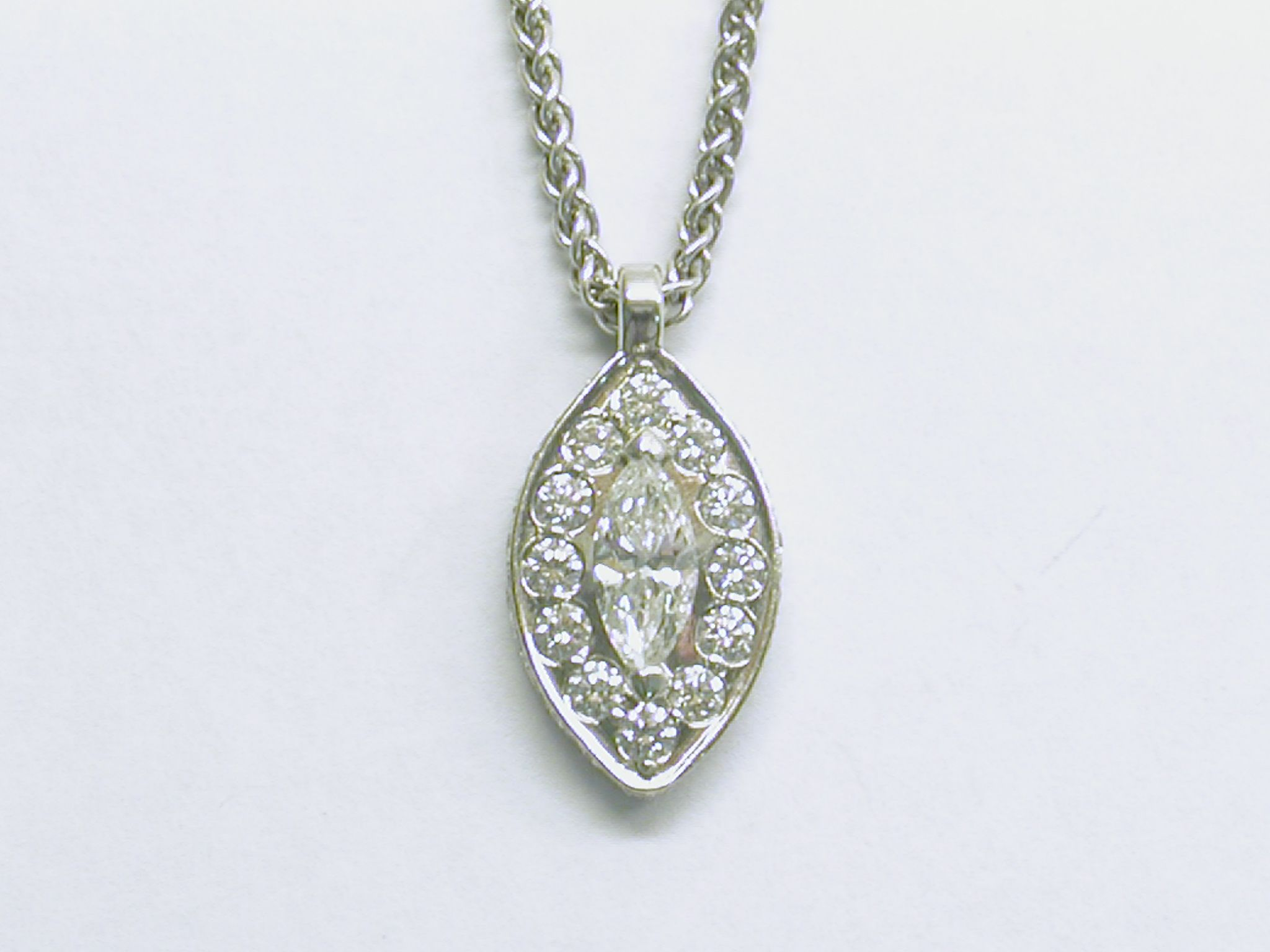 necklace diamond and pendant marquis gold pin solid marquise