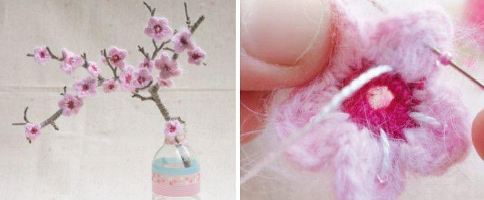 DIY: Kirschblüten häkeln von Mollie Makes | DaWanda Blog | Crochet ...