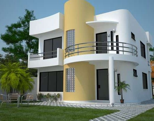 Fachadas bonitas para casas de dos pisos arquitectura for Modelos de frentes de casas