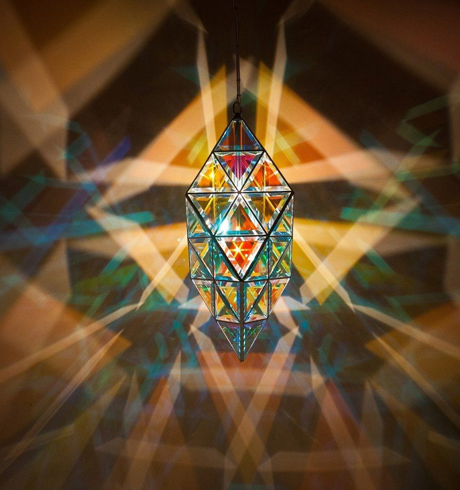 Love this one. Vega Luminary. Awesome shadows. www.zakayglasscreations.com