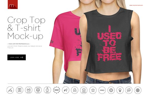 Download Crop Top T Shirt Mock Up Crop Tops Tops Tshirt Mockup Yellowimages Mockups