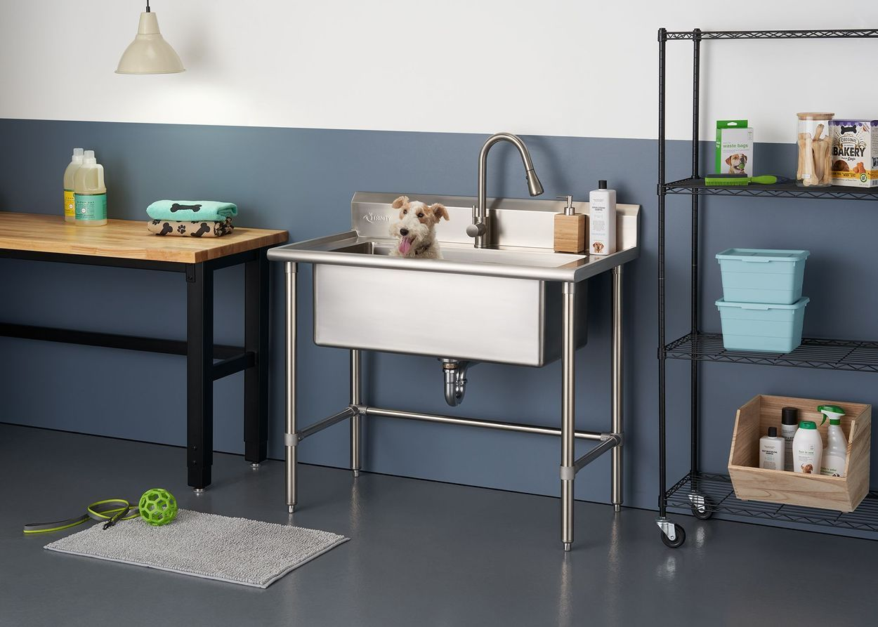 """TRINITY 32"""" x 16"""" Stainless Steel Utility Sink in 2020"""