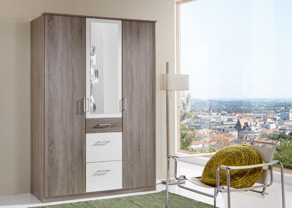 Schlafzimmerschrank Weiß ~ Kleiderschrank click eiche mit weiß buy now at