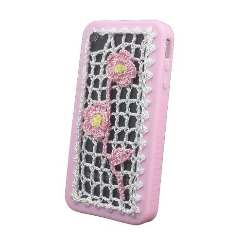New Hand Embroidery & Sillicon Bumper Fashion Case Cover For iPhone 4 4G 4S PINK | eBay