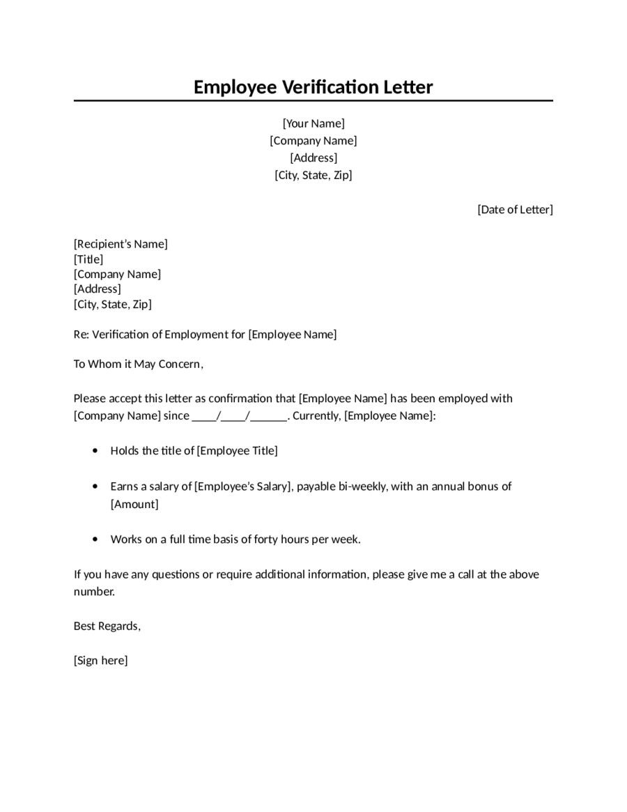 Employment Confirmation Letter Template 2019 Proof Of Employment Letter Fillable P Letter Template Word Employment Verification Letter Employment Letter Sample