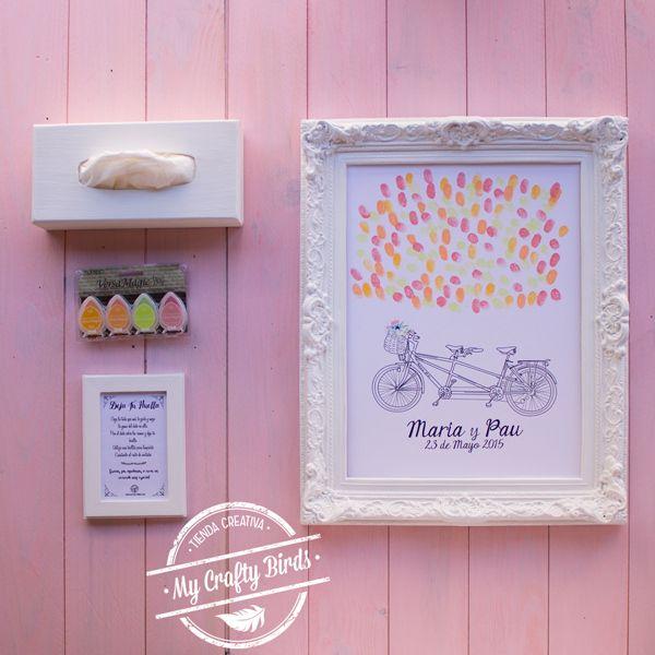 en my crafty birds creamos regalos originales y personalizados hechos a mano rboles de huellas para boda y cuadros de huellas para bautizos y comuniones - Cuadros Originales Hechos A Mano