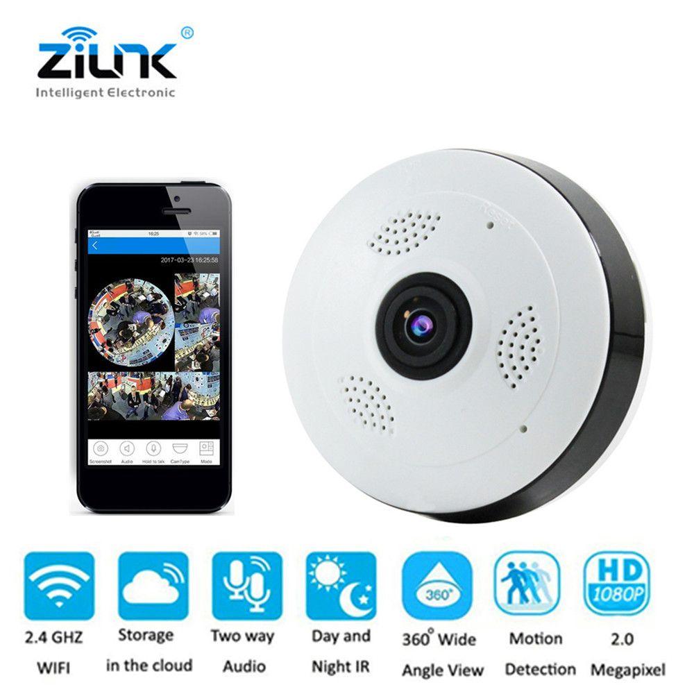 HD 1080P Wireless Wifi IP Fisheye Camera 360° Panoramic 2.0 MP Two Way Audio Cam