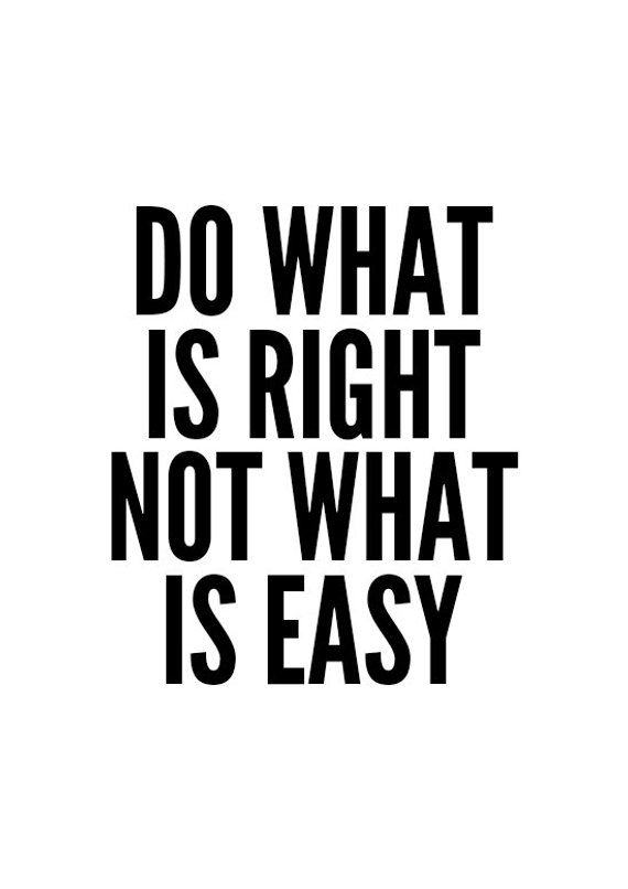 Motivational Quote Print Do What is Right Wall Decor | Etsy