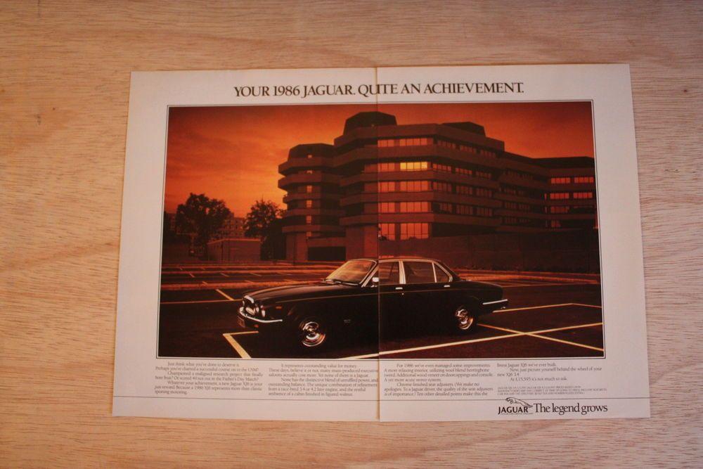 Jaguar XJ6 Series 3  Original  A3 Colour Advert 1986