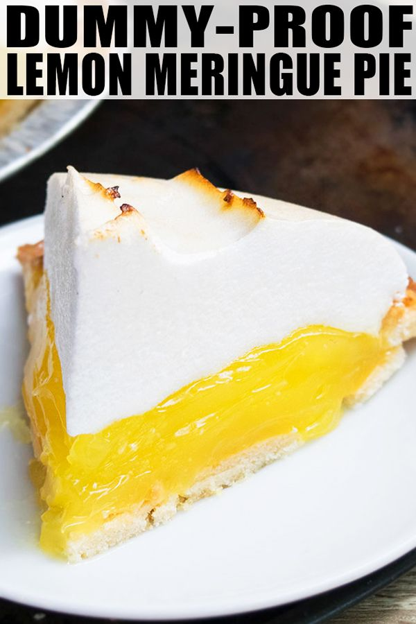 Easy Lemon Meringue Pie Recipe #lemonmeringuepie