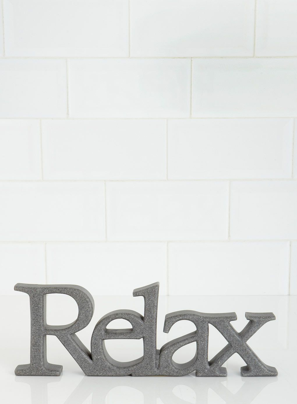 BHS - Grey Resin Relax Word - £12 | For the Home | Pinterest | Bhs