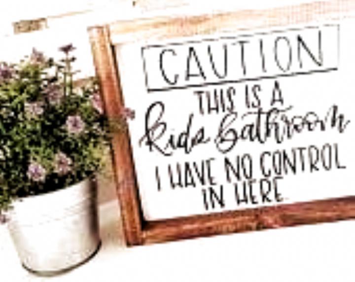 Photo of Bathroom sign |Wood Sign Home Decor | Wood Sign | Farmhouse wood sign | Bathroom…