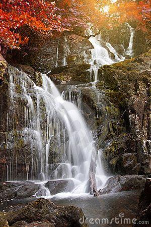Torc waterfall in autumn. Killarney National Park, #Ireland #Eire
