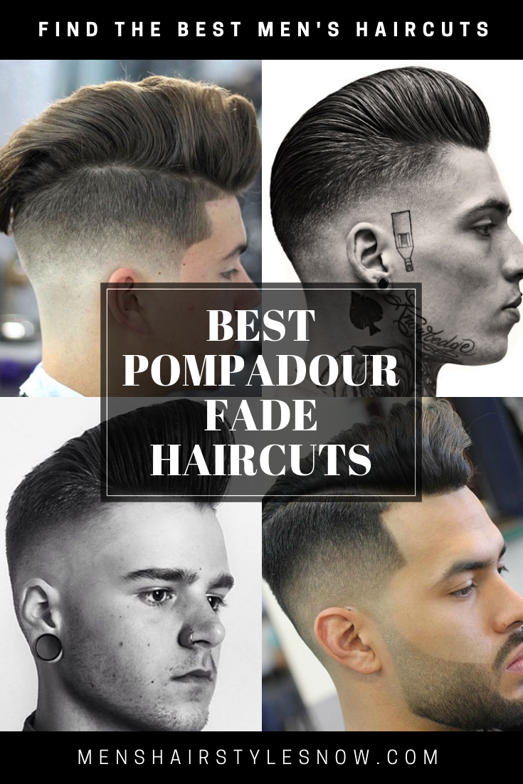 Mens haircuts short sides long top best pompadour fade haircuts  best hairstyles for men  pinterest