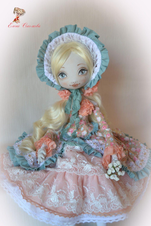 Elizabeth. Boudoir doll. 25 inches. Textile doll. by Elenadolls on Etsy