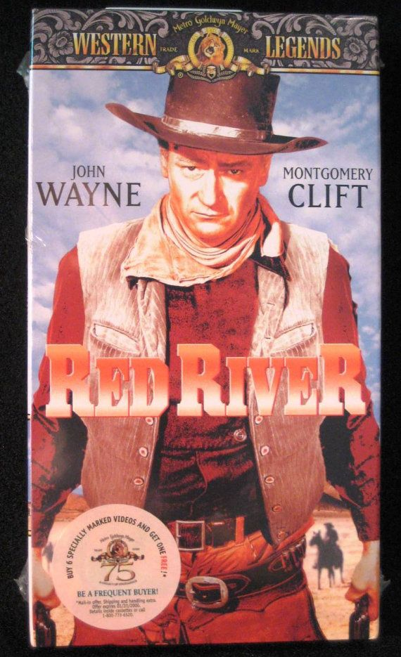 Vintage John Wayne Vhs Set Red River New 2 Copies By Tootookute