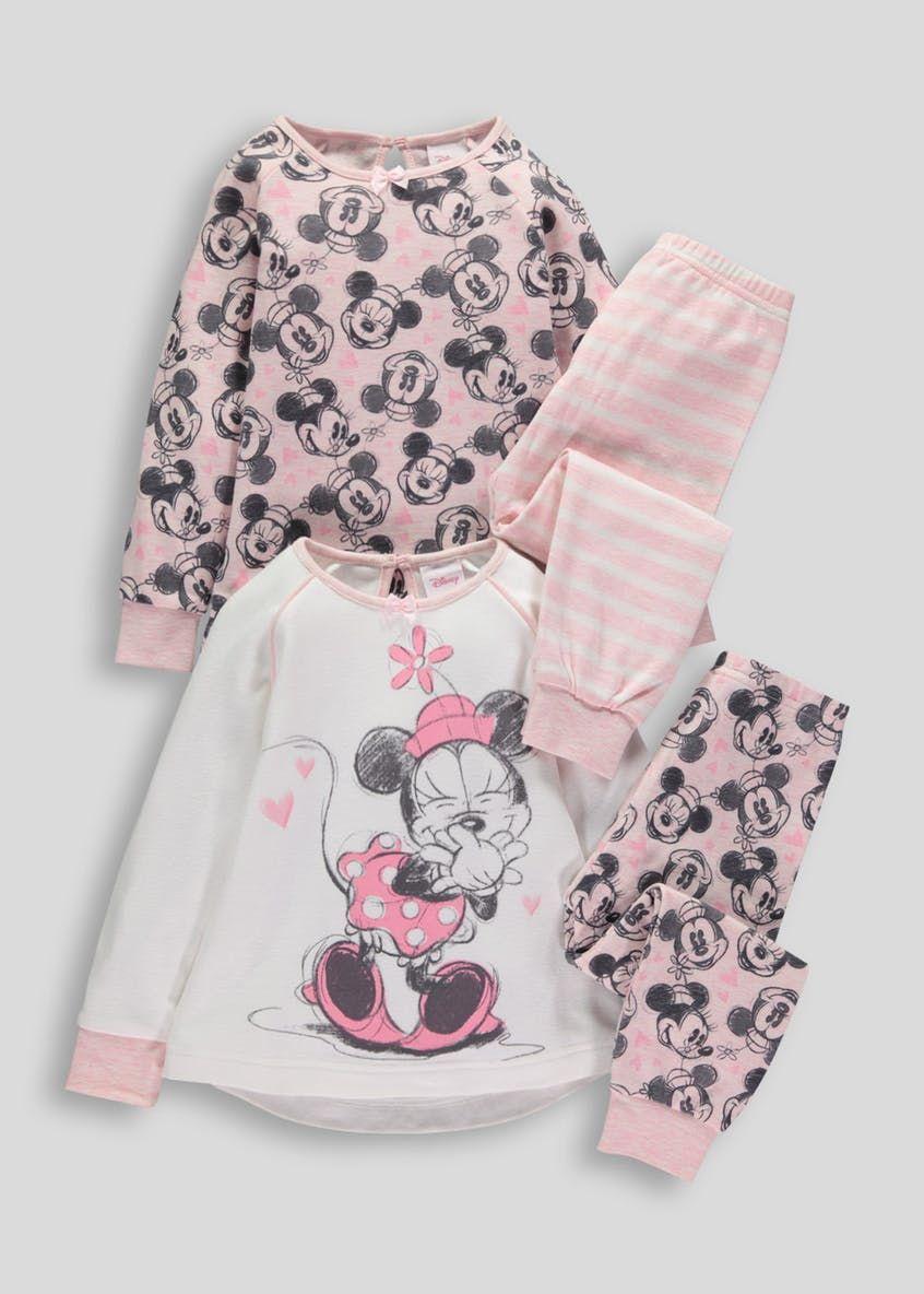 6cf0f770e2a7 Kids Minnie Mouse 2 Pack Snuggle Pyjamas (3mths-4yrs) – Matalan ...