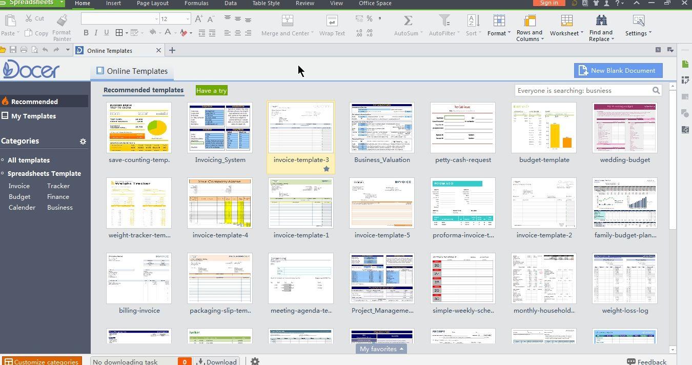 Wps Spreadsheet Spreadsheet Online Templates Templates