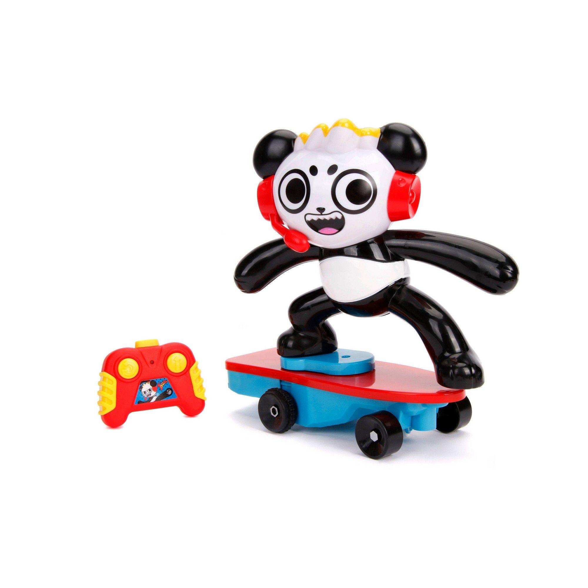 Jada Toys Ryan's World Combo Panda Skateboard Stunt R/C 10