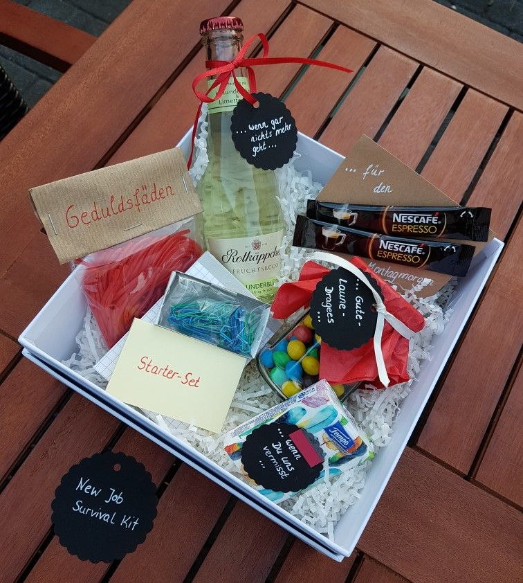 New Job Survival Kit Abschiedsgeschenk Kollegin Craft That
