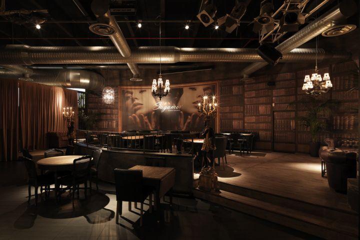 Sagamor lounge bar restaurant by andrea langhi bergamo italy retail design blog - Interior design bergamo ...