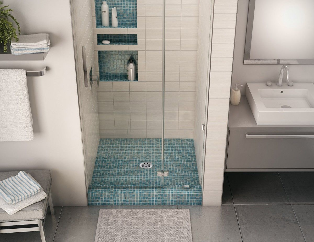 Redi Base Single Curb Shower Pan With Center Drain 32 D X 32 W