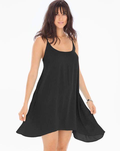 7a14e55292f Elan International Spaghetti Strap Cover Up Dress