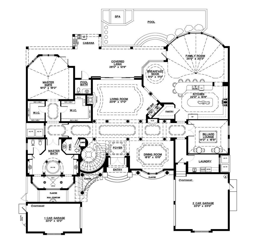 Plan #548-3 - Houseplans.com | Floor plans | Pinterest ...