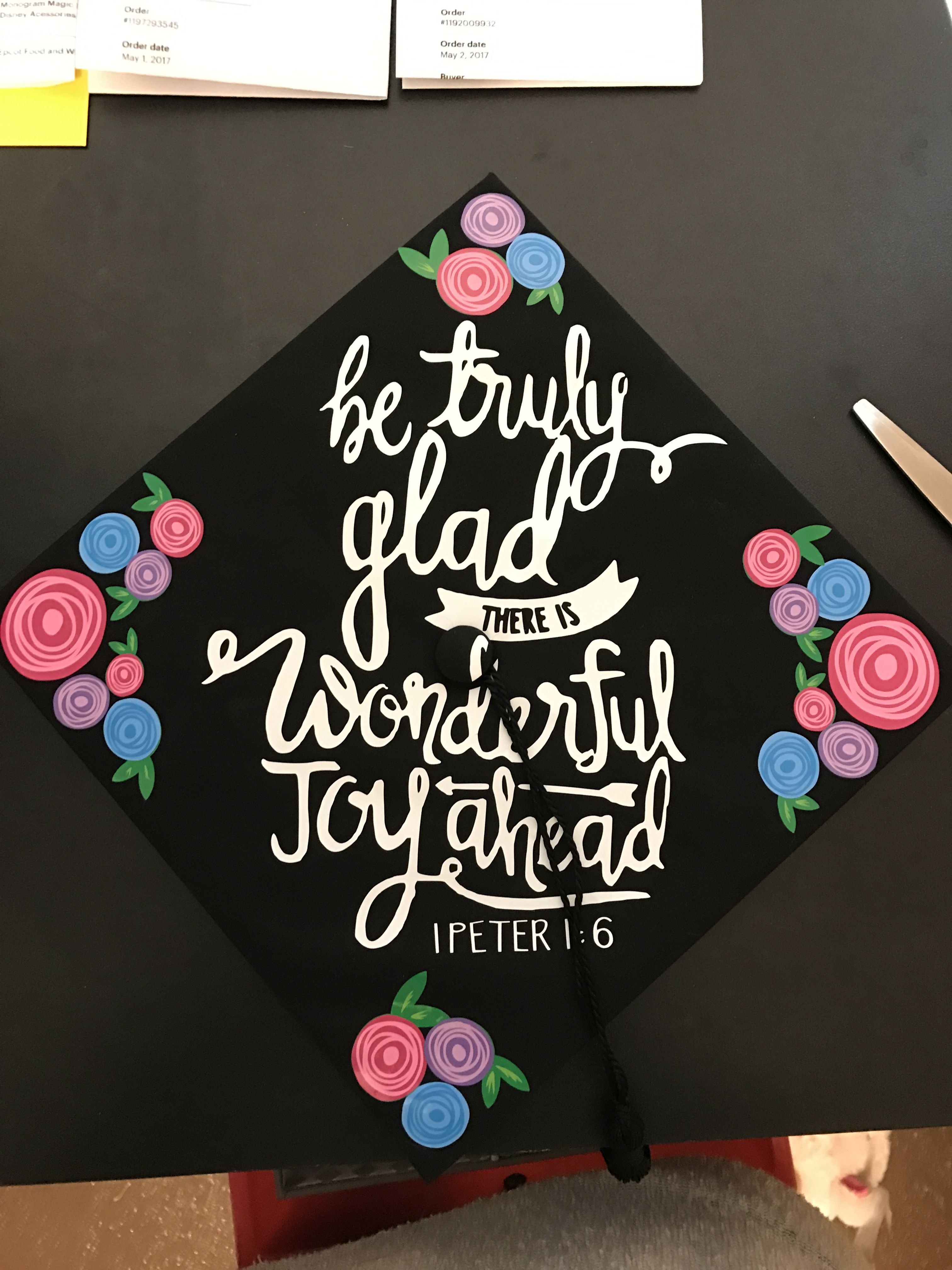 Attractive Graduation Thank You Cards Graduation Invitations Bible Verses Bible Verse Graduation Hat Design Bible Verse Graduation Hat Design Bible Verses