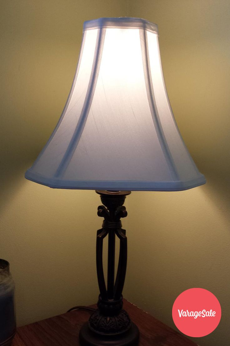 Metal lamp and white lamp shade that throws off the perfect light! The lamp and shade are both in excellent condition. Great for providing that extra bit of light in a study or den.Asking $25. Find this and other great deals locally in your community on www.varagesale.com