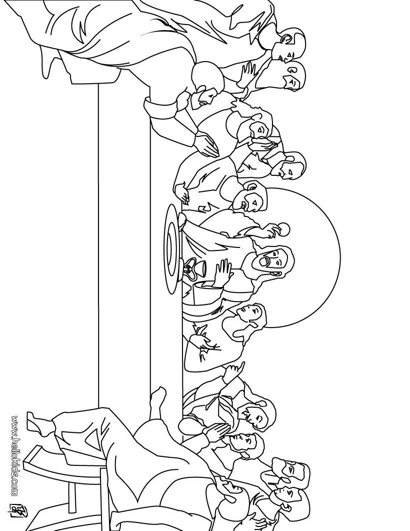 The Last Supper Coloring Page Easter Coloring Pages Christian