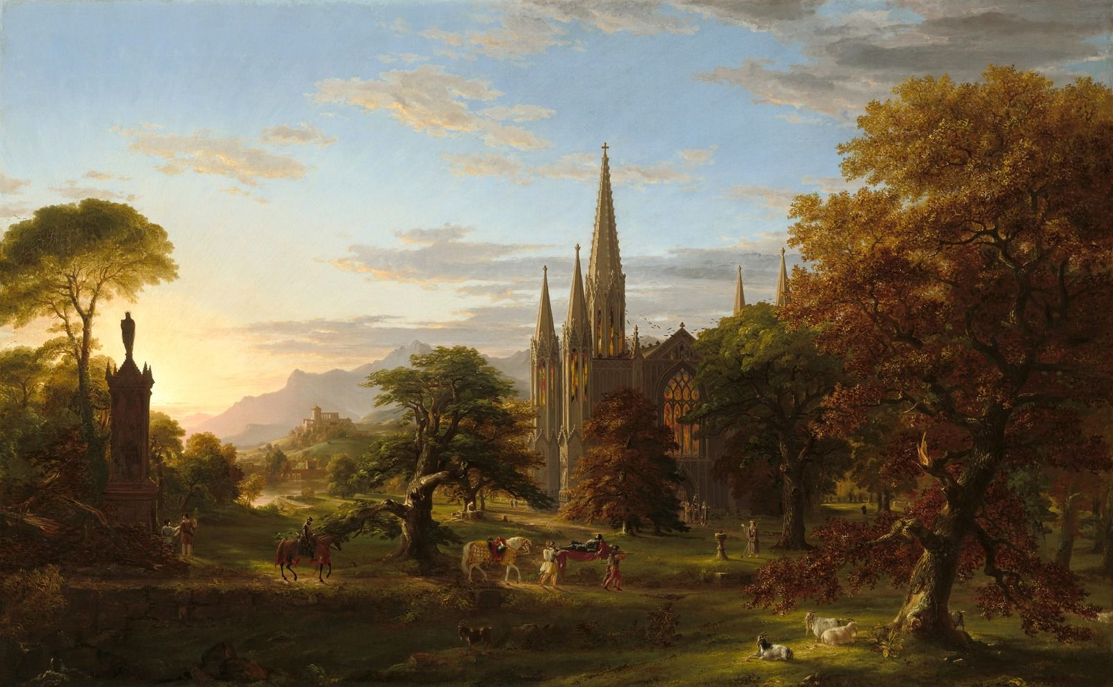 Thomas Cole National Gallery Of Art Castle Painting Toledo Museum Of Art