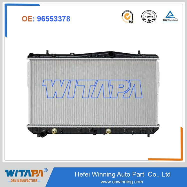 Manufacture 96553378 Gm Chevrolet Optra Car Spare Parts Radiator Chevrolet Optra Car Spare Parts Chevrolet
