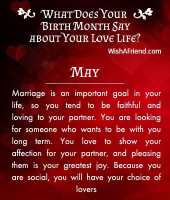 What does your Birth Month say about your Love Life? - Born in May