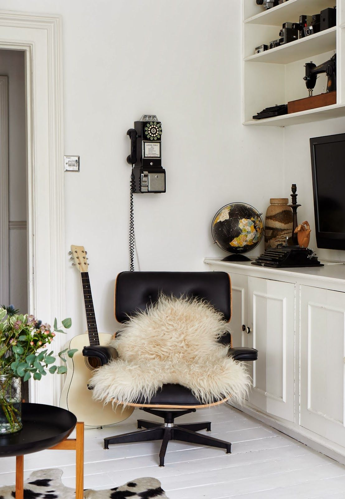 projects idea of white eames chair. That chair placement  color and styling is exceptional Anthology Issue 13 via Life Unstyled blog Stylist Emily Henson