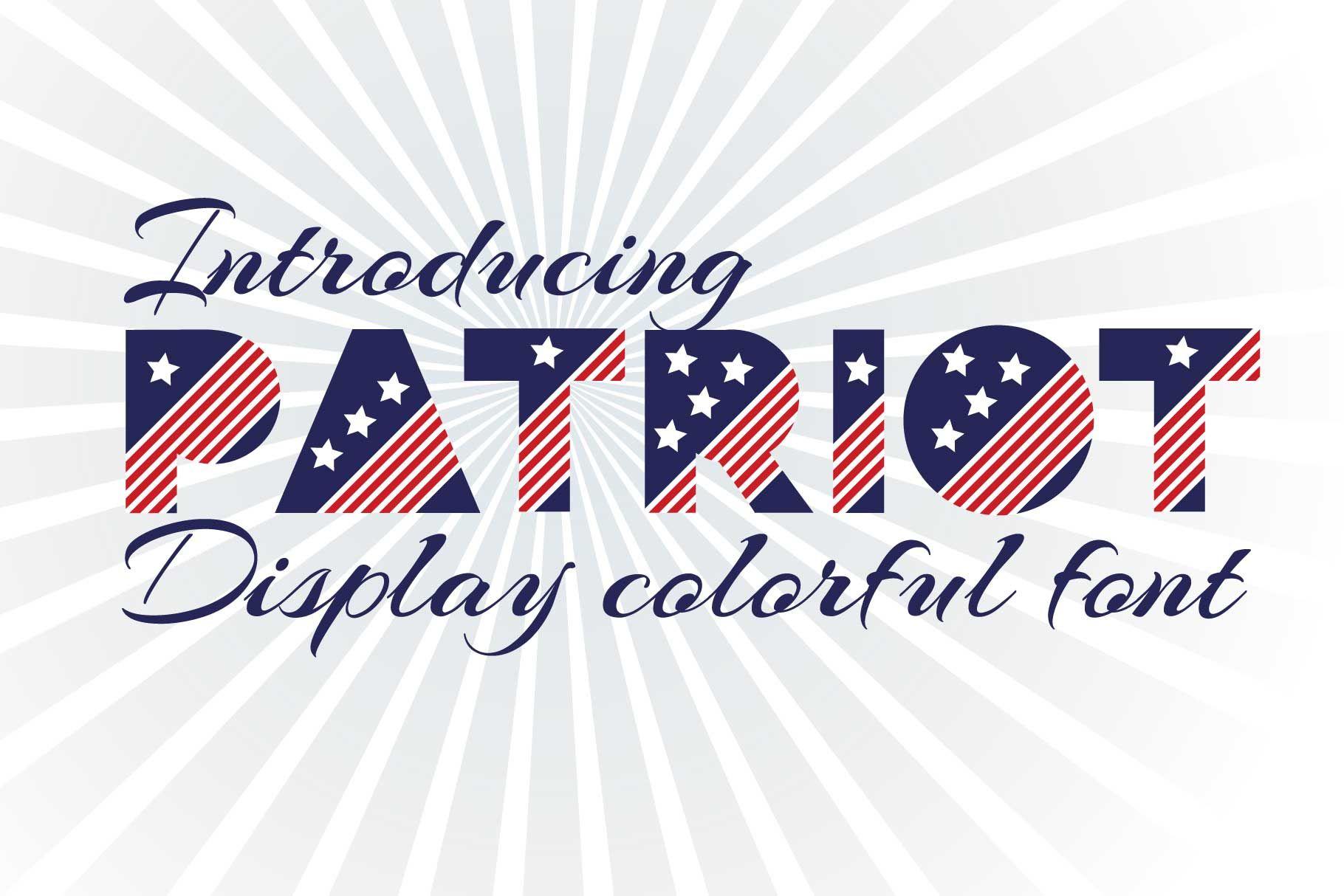 Patriot Font By Zjka