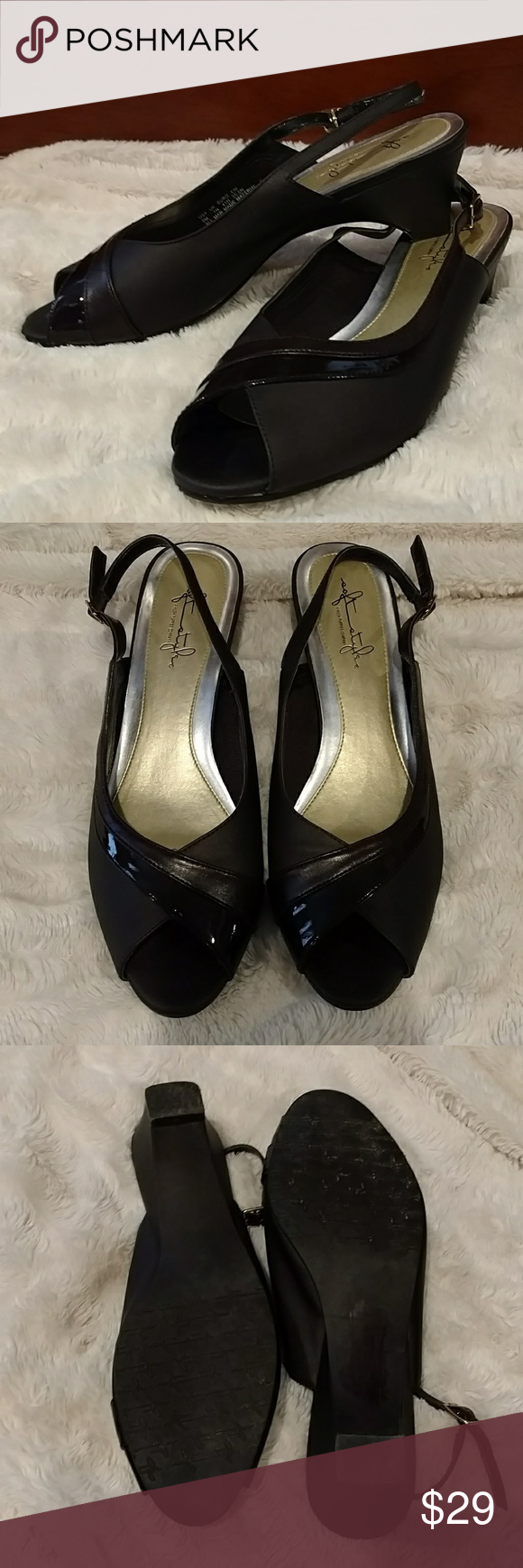Dark Brown Soft Styles by Hush Puppies, Epoc Size 9 very comfortable rich espresso brown heels with adjustable heel strap. Worn only a couple of times. Beautiful condition! Soft Styles, by Hush Puppies Shoes