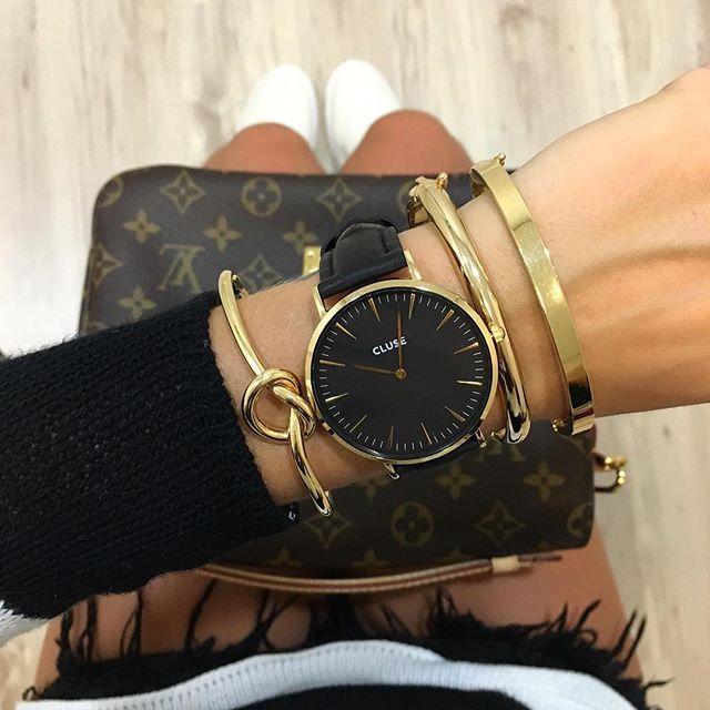 dernière sélection de 2019 courir chaussures qualité parfaite CLUSE La Bohème Gold Black/Black CL18401   Watches   Bijoux ...