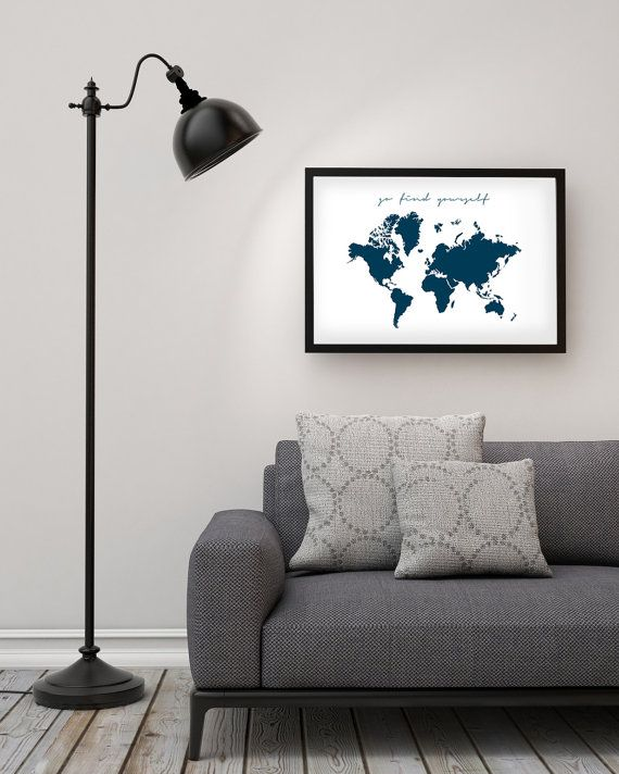 World map poster go find yourself xxl kitchen wall art typography print art go find yourself world map print inspirational quote printable art nordic design gumiabroncs Gallery