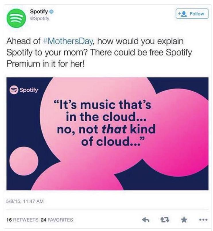 Spotify - Festa della Mamma - #EpicFail